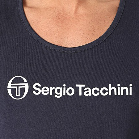 Sergio Tacchini - Débardeur Alberto 38715 Bleu Marine