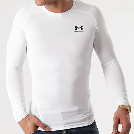 Under Armour - Tee Shirt Manches Longues 1361524 Blanc