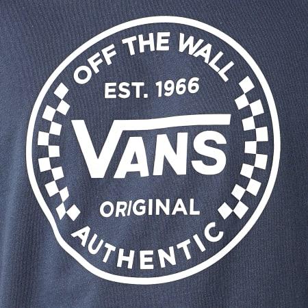 Vans - Tee Shirt Authentic Checker Bleu Marine