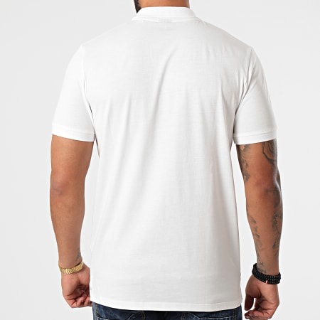 Jack And Jones - Polo Manches Courtes Tons Ecru