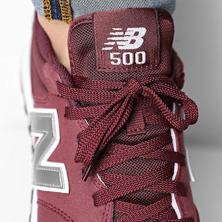 New Balance - Baskets Lifestyle 500 GM500BUS Bordeaux