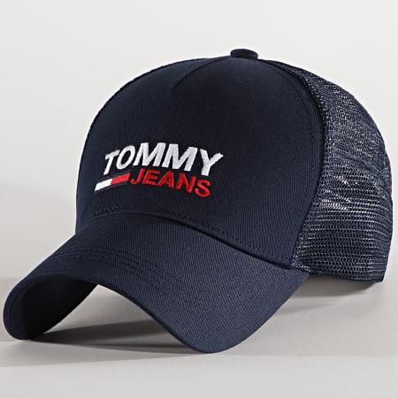 Tommy Jeans - Casquette Trucker Flag Cap 7172 Bleu Marine
