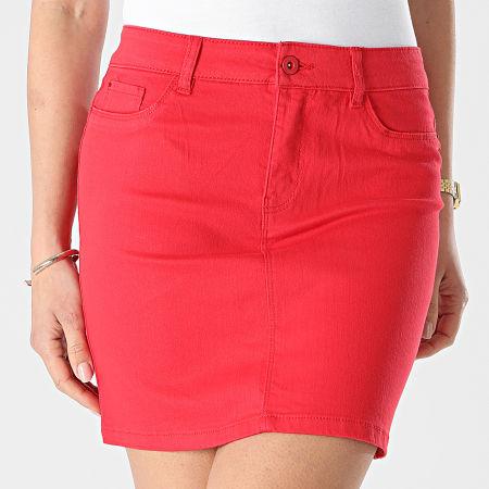 Vero Moda - Jupe Jean Femme Hot Seven Rouge
