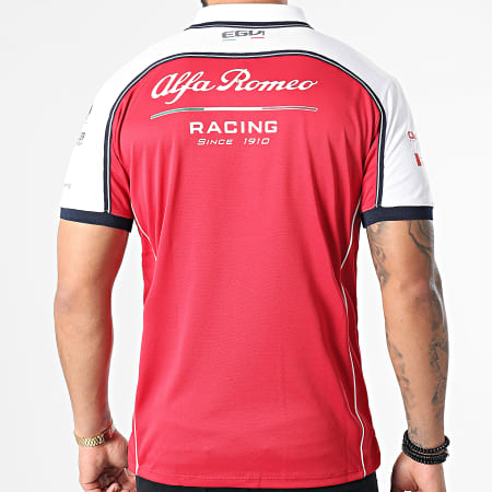 Alfa Romeo Racing - Polo Manches Courtes AFRPO01 Rouge Blanc