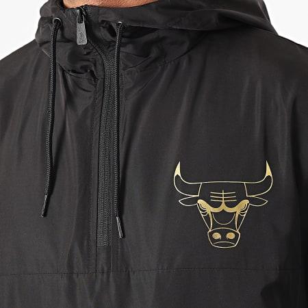 New Era - Coupe-Vent Col Zippé Chicago Bulls Metallic 12590863 Noir Doré