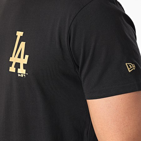 New Era - Tee Shirt Los Angeles Dodgers Metallic 12590866 Noir Doré