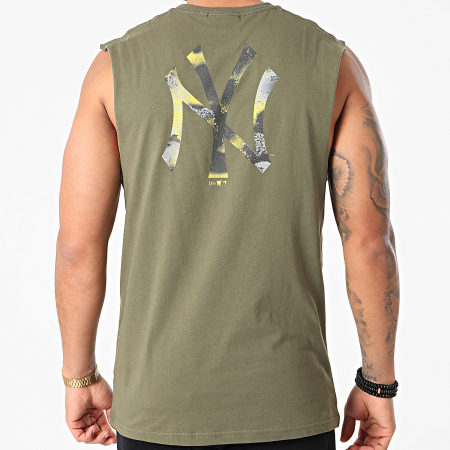 New Era - Débardeur New York Yankees Infill Team Logo 12590910 Vert Kaki