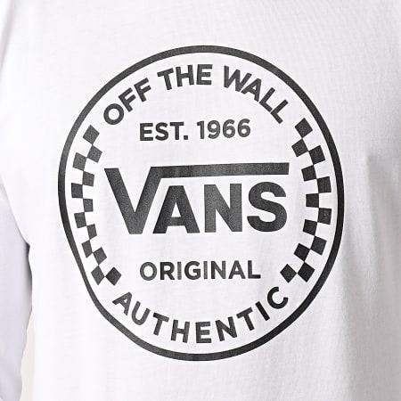 Vans - Tee Shirt Manches Longues Authentic Checker 0A54DOWHT Blanc