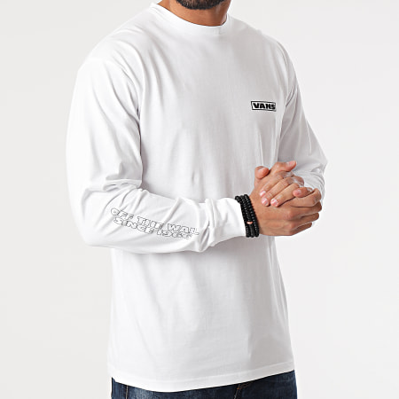 Vans - Tee Shirt Manches Longues Blooming 0A54DAWHT Blanc