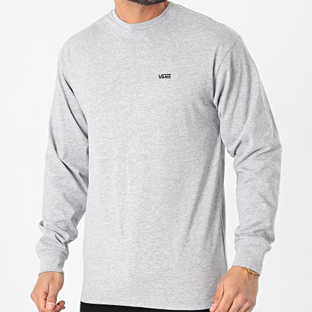 Vans - Tee Shirt Manches Longues Left Chest Hit 0A49LCATH Gris Chiné