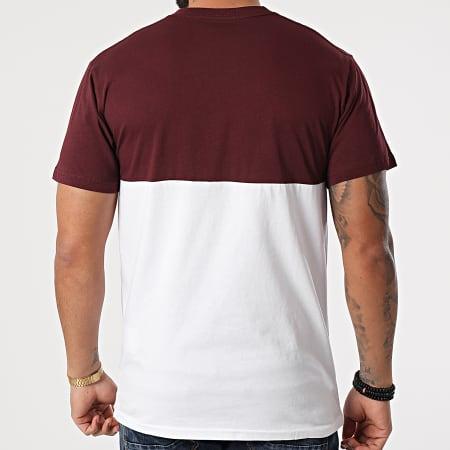 Vans - Tee Shirt Colorblock 0A3CZDKJ Bordeaux Blanc