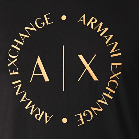Armani Exchange - Tee Shirt 8NZTCC-Z8H4Z Noir Orange
