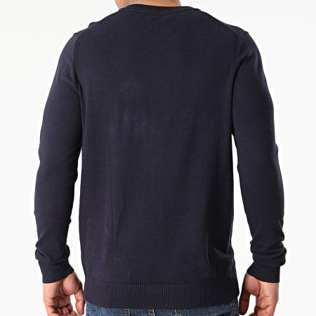 Calvin Klein Jeans - Pull Monogram Chest Logo 7118 Bleu Marine