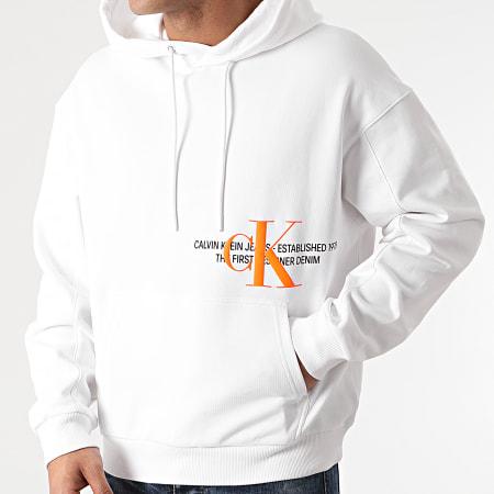 Calvin Klein Jeans - Sweat Capuche Urban Graphic Logo 8308 Blanc