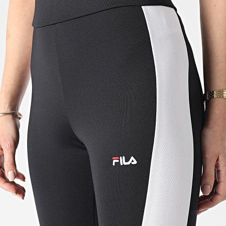 Fila - Legging Femme A Bandes Alya Blocked 688479 Noir Blanc