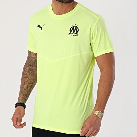 Puma - Tee Shirt De Sport OM Warmup 758653 Jaune Fluo