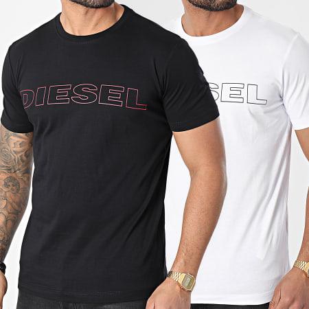 Diesel - Lot De 2 Tee Shirts Jake Noir Blanc
