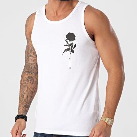 Roses - Débardeur Rose Chest Blanc Noir