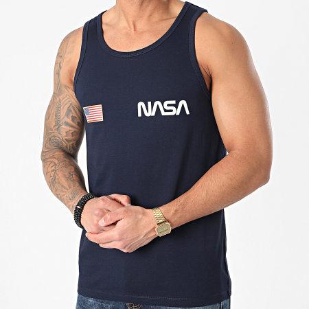 NASA - Débardeur Worm Logo USA Bleu Marine