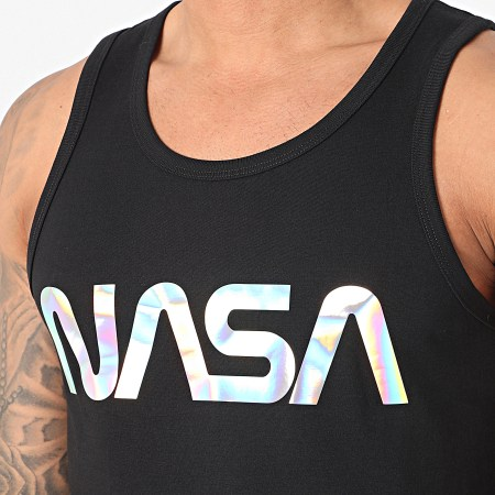 NASA - Débardeur Worm Logo Noir Iridescent