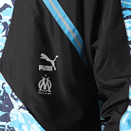 Puma - Veste Zippée OM TFS Woven 758735 Noir Bleu
