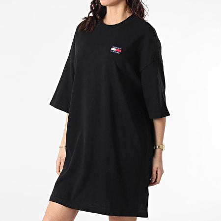 Tommy Jeans - Robe Tee Shirt Femme Oversized Badge 9916 Noir