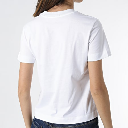Calvin Klein Jeans - Tee Shirt Femme Shrunken Institutional 5322 Blanc