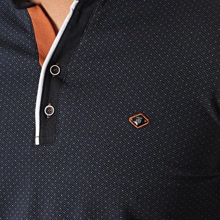 Classic Series - Polo Manches Courtes 11027 Bleu Marine Blanc