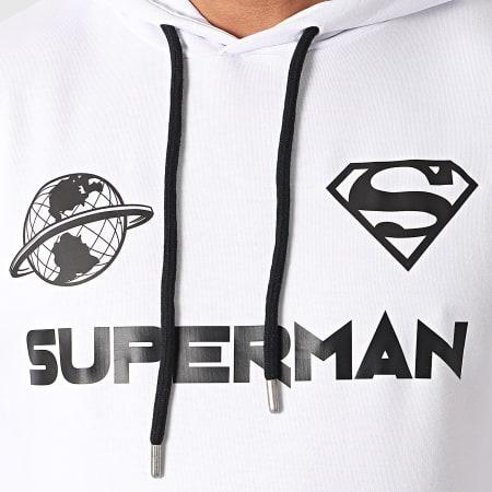 Superman - Sweat Capuche Globe Blanc Noir