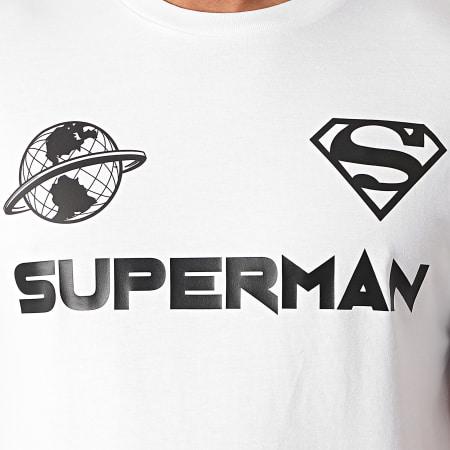 Superman - Tee Shirt Globe Blanc Noir