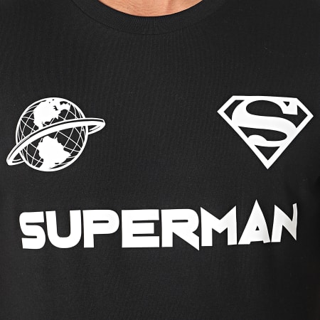 Superman - Tee Shirt Globe Noir Blanc