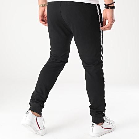 Deeluxe - Pantalon Jogging A Bandes Hugo S217101M Noir