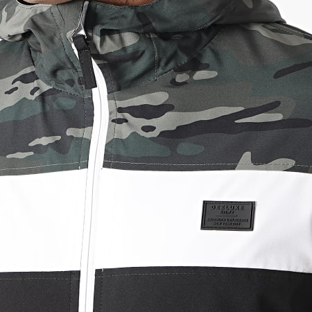 Deeluxe - Veste Zippée Capuche Frizzy S21615M Noir Blanc Vert Kaki Camouflage