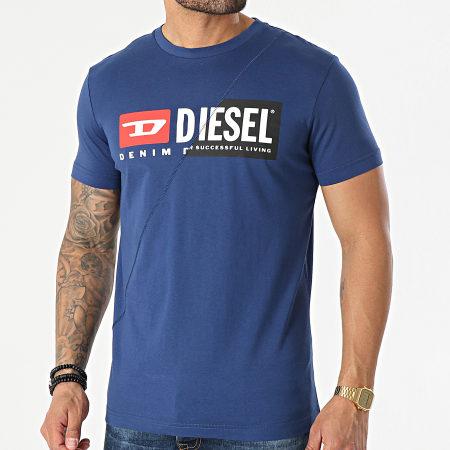 Diesel - Tee Shirt 00SDP1-0091A Bleu Marine