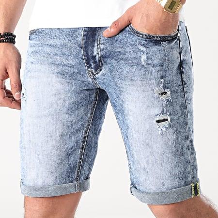 Frilivin - Short Jean Slim X101 Bleu Denim