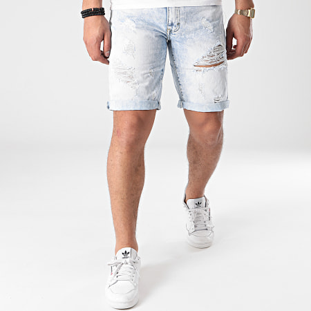 Frilivin - Short Jean JD831 Bleu Wash