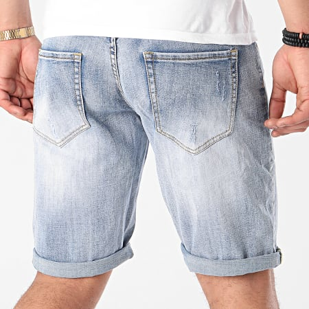 Frilivin - Short Jean Slim JD826 Bleu Denim