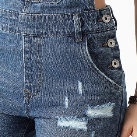 Girls Only - Salopette Short Jean Femme D972 Bleu Denim