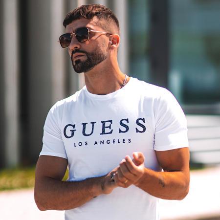 Guess - Tee Shirt M01I54J1300 Blanc