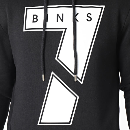 7 Binks - Sweat Capuche Seven Noir Blanc