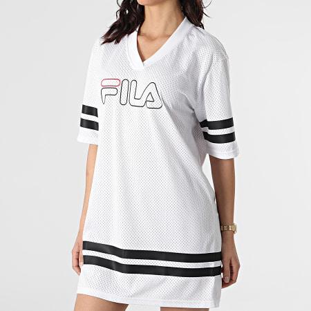 Fila - Robe Tee Shirt Oversize Femme Jala 683299 Blanc