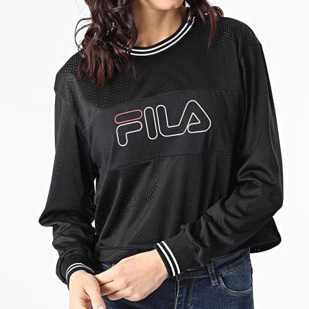 Fila - Tee Shirt Manches Longues Femme Crop Jalina Sporty Mesh 683300 Noir