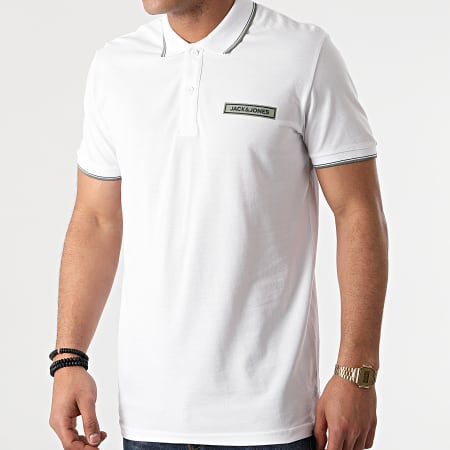 Jack And Jones - Polo Manches Courtes Londons Blanc