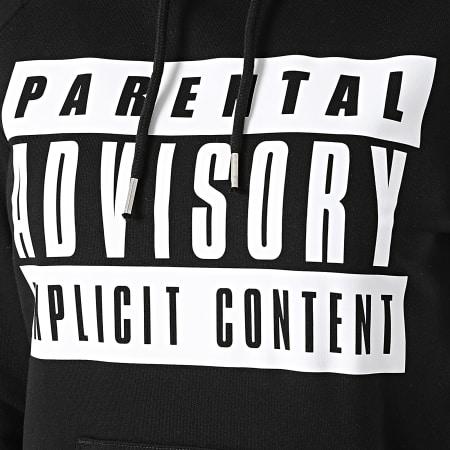 Parental Advisory - Sweat Capuche Femme Logo Noir Blanc
