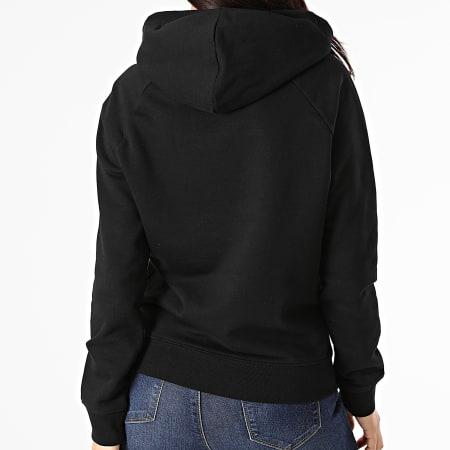 Parental Advisory - Sweat Capuche Femme Logo Coeur Noir Blanc