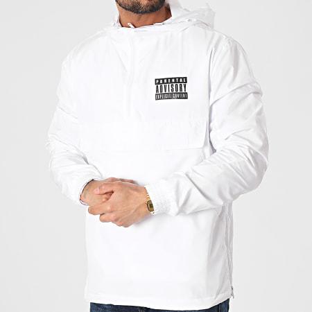 Parental Advisory - Coupe-Vent Logo Blanc