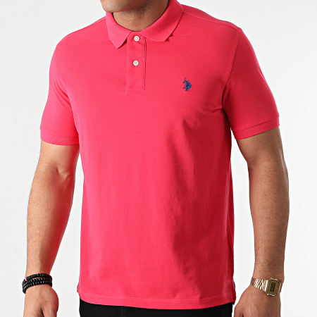 US Polo ASSN - Polo Manches Courtes Institutional Rose