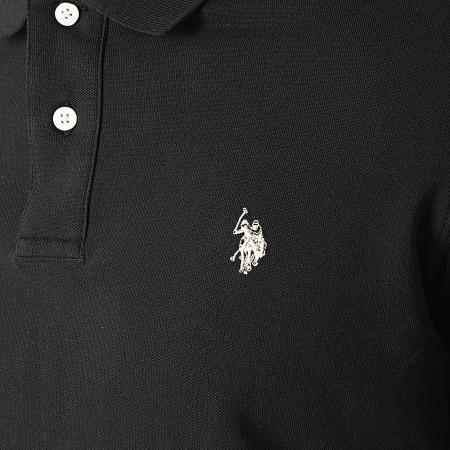 US Polo ASSN - Polo Manches Courtes Institutional Noir