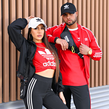 adidas - Tee Shirt Manches Longues GN3489 Rouge