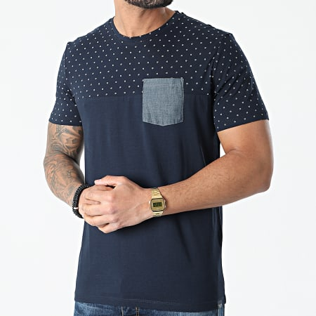 Tom Tailor - Tee Shirt Poche 1024922-XX-10 Bleu Marine